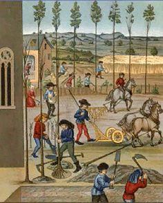 """"""" Στα μέσα του 11ου αιώνα...πραγματοποιείται μια γεωργική επανάσταση, η οποία εκφράζεται με την αύξηση των καλλιεργούμενων εκτάσεων και της συγκομιδής και με τεχνολογικές καινοτομίες, όπως είναι το τροχοφόρο άροτρο και η τετράτροχη άμαξα."""" (από το σχολικό βιβλίο σελ. 61)"""