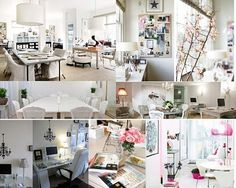 I am currently designing a new wedding office space :) Not for me, but for a good friend of mine, Heather at Fiestasol . I am hugely excit. Cool Office Space, Office Spaces, Office Fun, Future Office, Work Spaces, Wedding Planner Office, Home Office Decor, Office Ideas, Home Decor