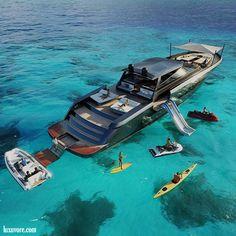 Luxury Toys.  #luxury #lifestyle #rich #life #yacht #toys #fun #jetski #canoe #beach #sea #dreams