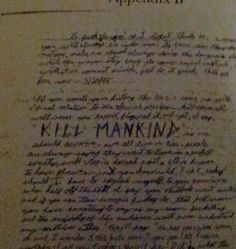 """I pinned this to prove a point . Harris/Klebold moronic followers have drug the victims names through the mud by lying and claiming all bullied the 2 killers. This Journal page say's """"KILL MANKIND"""" .This goes to further prove Eric hated anybody and everything ."""