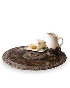 GG Collection Lazy Susan & Syrup Pitcher - Horchow