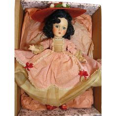 1930 sold Composition Scarlett O& Madame Alexander Doll in Original Outfit and Hat. This lovey Madame Alexander Scarlett O& Composition doll is Old Dolls, Antique Dolls, Vintage Dolls, Doll Toys, Baby Dolls, Forever My Girl, Vintage Madame Alexander Dolls, Creepy Dolls, Hello Dolly