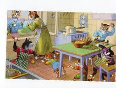 Mainzer Cats - cooking in the kitchen