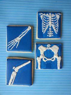 X-Ray Skeleton cookies // Dustin Beck