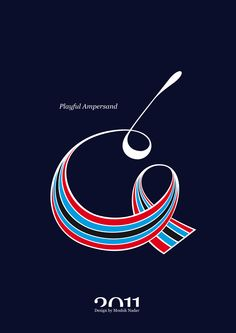 #Playful #Ampersand. #Moshik Nadav #Typography.        #ampersands #experimental #typography #typo #font #fonts #type #fashion #sleek #deep #hues #graphic #art #red #blue #navy