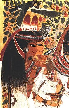 *EGYPT ~ Userhat and Wife Receiving Offerings, Tomb of Userhat Norman de Garis Davies Period: New Kingdom, Ramesside Dynasty: Dynasty 19 Reign: reign of Seti I Date: ca. Thebes Medium: Tempera on paper Ancient Egyptian Paintings, Ancient Egypt Art, Egyptian Art, Ancient Artifacts, Ancient History, Egyptian Women, Architecture Antique, Kemet Egypt, Empire Romain