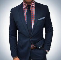 Red, White and Blue in our navy knit tie.