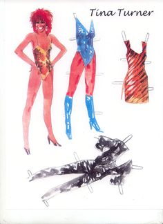 Tina Turner Paper Doll and a bazillion other paper dolls. Awesome blog.