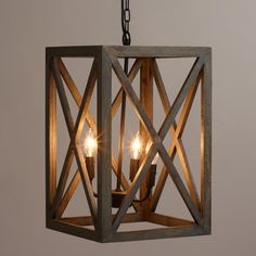 Gray Wood and Iron Valencia Chandelier    18x12   $130.
