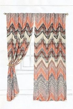 Scattered Chevrons Curtain eclectic-curtains