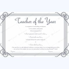 Teacher of the year 08 pinterest teacher yelopaper Images