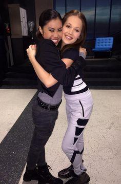 "Photo: Ashley Argota Working With Kelli Berglund On ""Lab Rats: Bionic Island"" March 10, 2015 - Dis411"