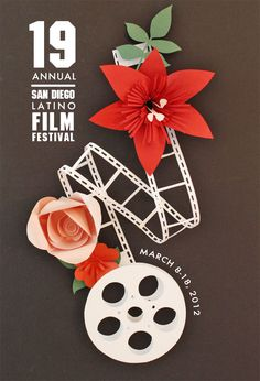 San Diego latin Film Festival poster by Vanessa Marquez