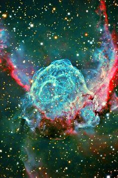 Blue red nebula Joy  Richard Preuss  Horoscope
