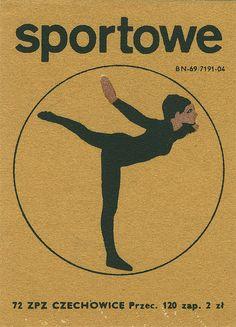 Polish Matchbox Label #sport Retro Illustration, Illustrations, Vintage Fireworks, Badge Creator, Matchbox Art, Vintage Graphic Design, Graphic Art, Black Silhouette, Vintage Labels