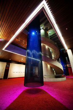 Concert Hall, Perth, Australia, Kaynemaile sculptures in foyer by Armstrong and Parkin Architects