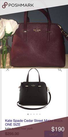 Kate spade New York cedar street bag Never used, received as a gift and already had this type of bag. Just looking to sell! Beautiful burgundy color and hard to find! kate spade Bags Totes