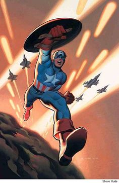 Captain America by Steve Rude