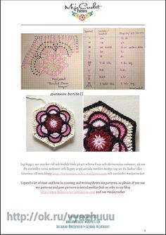 Crochet Mandala, Crochet Motif, Diy Crochet, Crochet Designs, Crochet Doilies, Crochet Flowers, Crochet Blocks, Crochet Squares, Crochet Granny