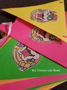 Creando los banderines de cumpleaños de Mario y Bowser. Birthday diy decorations Yoshi, Minions, Mario Y Luigi, O Pokemon, Birthday, Decorated Cakes, Birthday Bunting, Diy Decorating, Birthdays