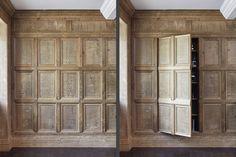 Oak panelling — Jack Badger Ltd Wooden Panelling, Wooden Walls, Wall Wood, Wall Design, House Design, Wall Molding, Moulding, Duck House, Basement Inspiration