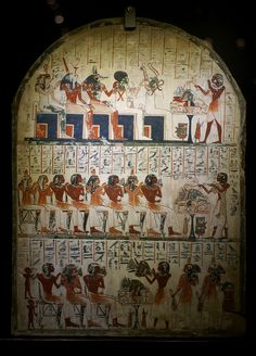Karo was a stonemason and his painted limestone stele was found in Deir el-Medineh. It dates from the reign of Ramses II (1279 - 1213 BC).