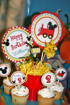 """Photo 1 of 6: Mickey Mouse Train Party / Birthday """"All Aboard Mickey's Choo Choo Express"""" 