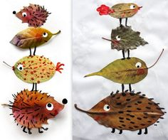 Collages feuilles mortes animaux Collages, Collage Art, Diy For Kids, Crafts For Kids, Land Art, Art Education, Science Nature, Mobiles, Creative Art