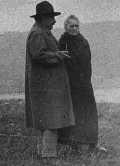 "Marie Curie and Albert Einstein deep in conversation  Einstein once said of Marie Curie, ""Marie Curie is, of all celebrated beings, the one whom fame has not corrupted.""…"