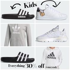 Shop Your Screenshots™ with LIKEtoKNOW.it, a shopping discovery app that allows you to instantly shop your favorite influencer pics across social media and the mobile web. Joggers Shoes, Mom Fashion, Athletic Outfits, Mom Style, Workout Gear, Tub, Sportswear, Adidas, Black And White