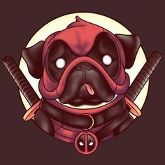 "Deadpool T-Shirt by Louis Wulwick aka KindaCreative. ""Pugpool"" is Deadpool as a Pug for fans of Pugs, or Deadpool. Deadpool Wallpaper, Marvel Vs, Marvel Dc Comics, Deadpool Funny, Deadpool Fan Art, Reservoir Dogs, Anime, Captain America, Comic Art"