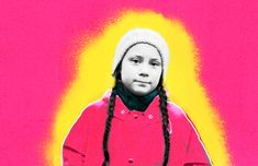 A Pop Art styled collage with activist Greta Thunberg as the subject. Photo by Hanna Franzen. #greta thunberg #collage #illustration #greta thunberg #pop art #pink #portrait Collage Illustration, Annie, Pop Art, Photoshop, Inspirational, Content, Portrait, Space, Lady