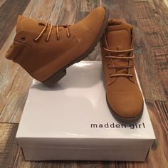 Madden Girl boots wore these only one time, size 8! :) Madden Girl Shoes Ankle Boots & Booties