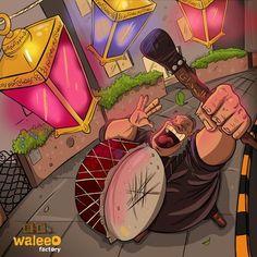 "this guy called ""Msahharati"" , he wakes up people using his drum during the holy month ""Ramadan"" . Ramadan Kareem Client : PlanIt for Events ramadan kareem Happy Ied Mubarak, Eid Images, Cotton Ball Lights, Decoupage Printables, Egypt Art, Ramadan Mubarak, Ramadan Decorations, Arabic Art, Harry Potter Art"
