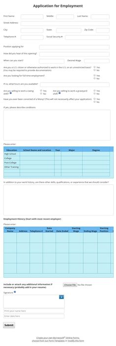 Target Application Form employment applications Pinterest - application for employment
