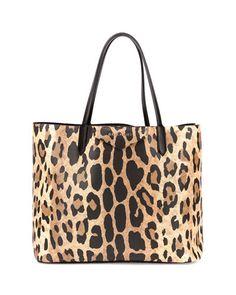 Givenchy Antigona Small Leather Shopping Tote, Animal Print Fall 2015