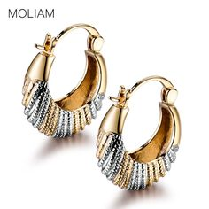 MOLIAM Awesome Ladies Earing Jewelry Charm Chic Snap Closure Hoop Earring Jewelry for Womens E421