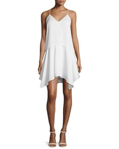 Camilla and Marc Spaghetti Strap Popover Hanky Dress undefined Summer Fashion Outfits, Spring Summer Fashion, Boho Fashion, Ivory Bridesmaid Dresses, Dress Clothes For Women, Camilla, White Dress, Gowns, Spaghetti