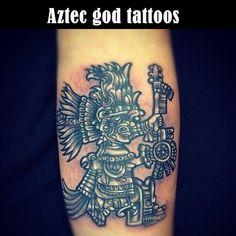 9-Aztec god tattoos