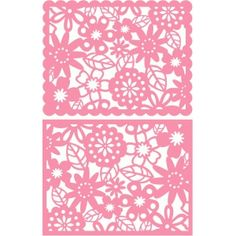 Silhouette Design Store - View Design #98615: a2 floral lace card front