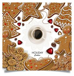 """Holiday Cookies"" by dolly-valkyrie ❤ liked on Polyvore featuring art"