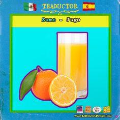 Un rico jugo para tener energía  #MexicanosenEspaña #Traductor #LaPanzaesPrimero www.lapanzaesprimero.com