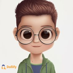 This is Harry, Harry Potter from book's J. Cute Cartoon Boy, Cute Cartoon Pictures, Caricatures, Animated Man, Fan Art, Cute Drawings, Harry Potter, Harry Harry, Round Sunglasses