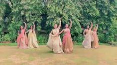 Indian bridesmaids performance - Beautiful performance by bride & bridesmaids Indian Wedding Songs, Indian Wedding Bridesmaids, Desi Wedding, Wedding Dance Video, Wedding Videos, Wedding Photos, Bollywood Wedding, Bollywood Saree, Bollywood Fashion