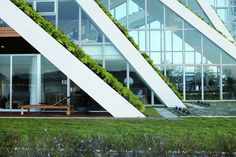 Hualien Residences by Bjarke Ingels Group in Hualien City, Taiwan Green Roof Benefits, Green Roof System, Patio Central, Roofing Options, Residential Roofing, Big Design, House Design, First Home, Interior Architecture
