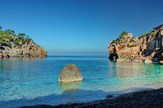 Cala Deia. Best nature destinations in the Balearic Islands http://blog.aboattime.com/best-nature-destinations-near-majorca/