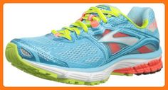 Brooks Women's Ravenna 5 Running Shoes, Color: Bluefish/FieryCoral/GreenGlow, Size: 6.5 (*Partner Link)