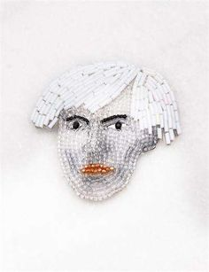 Beaded Brooch Pins - Including the iconic faces of Michael Jackson, Coco Chanel, Karl Lagerfeld, Andy Warhol and more, the beaded brooch pins by Marianne Batlle are for...