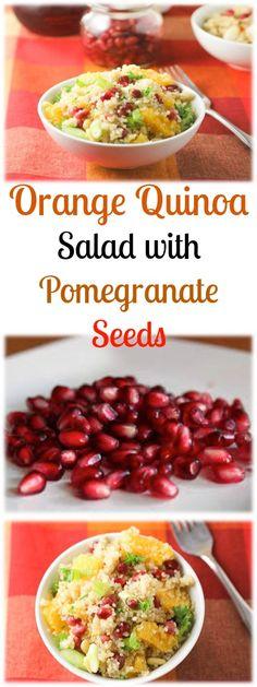 Orange Quinoa Salad with Pomegranate Seeds
