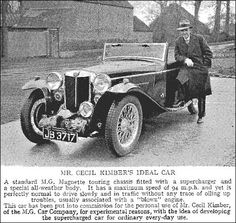 Cecil Kimber's Special Bodied Magnette, 1934 the launch of the Q-type two-seater racing car